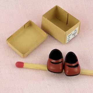Girl Shoes miniatures for doll 1/12, 2 cm..