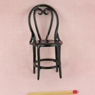 Bar chair miniature painted iron, doll house restaurant