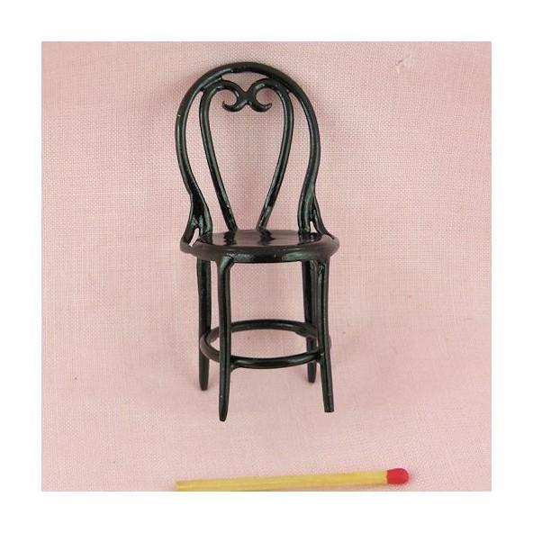 Chaise fer bistrot miniature 1/12 maison de poupée