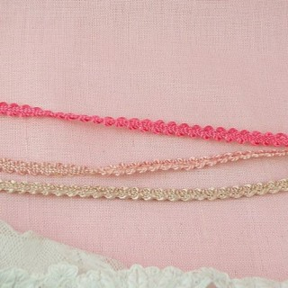 Tresse brillante croquet feston 5 mm.