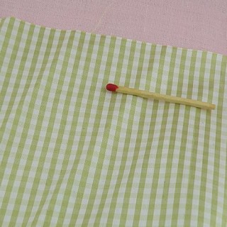 Silk fabric Vintage Checked fabric, sell by square, doll clothes.