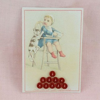 Vintage card of tiny 2 holes buttons.