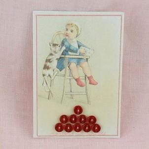 Carte minis boutons translucides