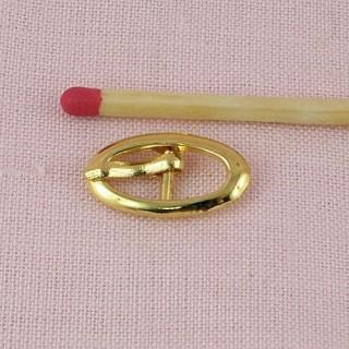 Petite Boucle métal ovale ardillon ceinture poupée 18 mm