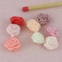 Small ribbon rose, fabric rose 10 mms