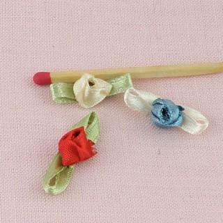 Rose en ruban avec pétales 7 mm
