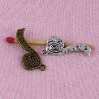 Centimeter of needlewoman miniature, bracelet charm, 2,7 cm