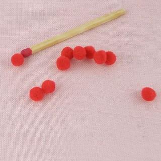 Brown pompoms balls 3 mms.