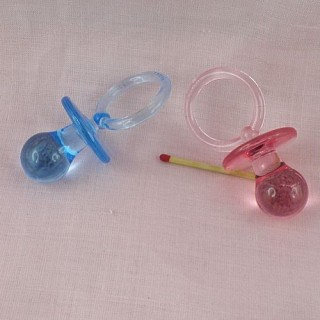 Pacifier for doll, pendant 7,5 cms