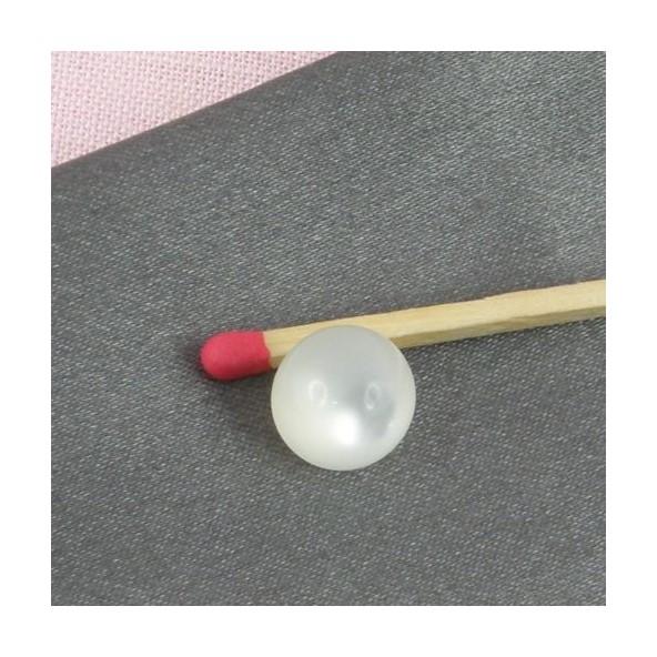 Boutons à pied perle nacrée 9 mm,