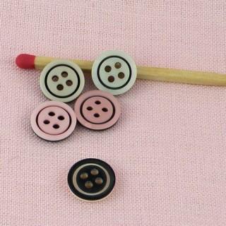 Plastic two colors button 1 cm