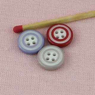 Plastic two colors button 12 mms