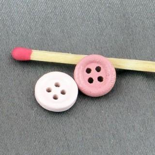 Bouton rond bois teinté 1 cm.