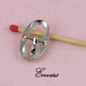 Boucle miniature ovale ardillon ceinture poupée