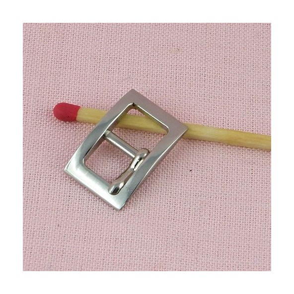 Small Buckle with notch for jewel, doll belt, 1,2 cm.