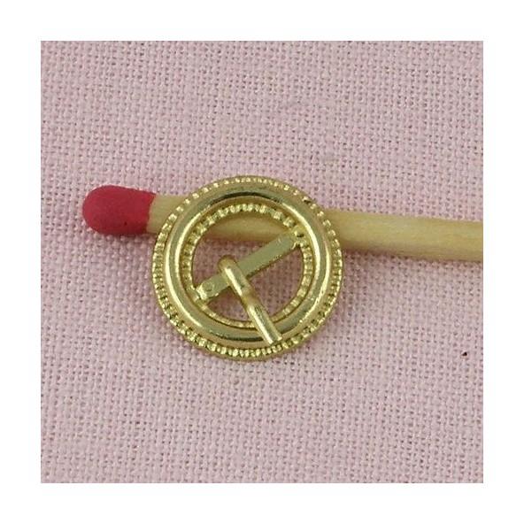 67a3581633f Boucle ceinture miniature à cran poupée Boucle ronde miniature en ...