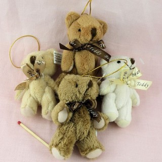 Small plush Bear jointed 8 cms