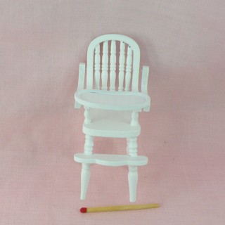 Miniature highchair baby dollhouse  9 cms