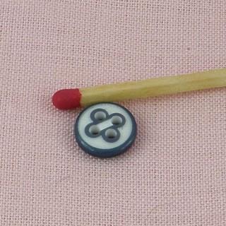 Bouton rond 4 trous surpiqué 1,5 cm