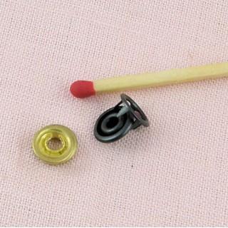 Bouton pression cercle métal mini à emboutir, 8mm.