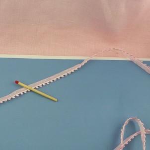 Thick Gimp balls, cotton ribbon piping, 13 mms,