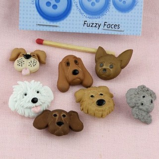 Bouton têtes de chiens Dress it up,