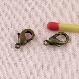 Jewelry findings, lobster clasp 11 mms.