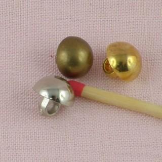 Shank golden or bronze plastic button 1 cm.