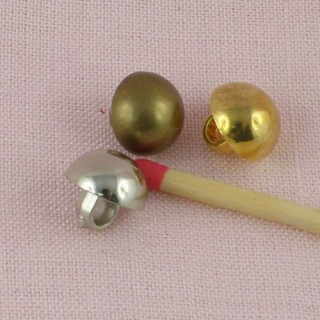 Shank golden plastic button. 1cm.