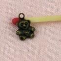 Metal bear decoration charm 8 mms.