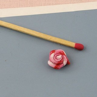 Small ribbon rose, fabric rose 10 mms