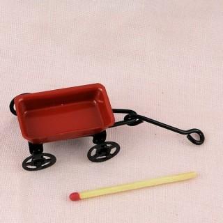 Remorque métal miniature maison poupee