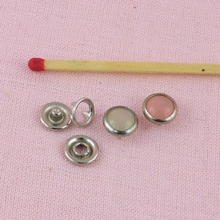 pearly or colored mini snaps fastener 8 mm