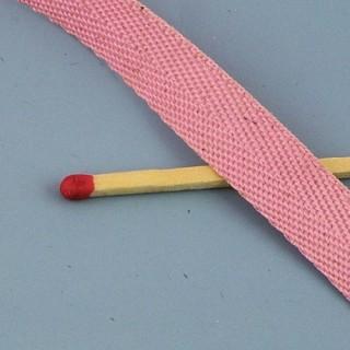 Luxurous cotton ribbon, 1 cm, 10 mm.