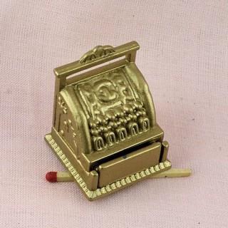 Caisse enregistreuse miniature magasin poupée 1/12 eme