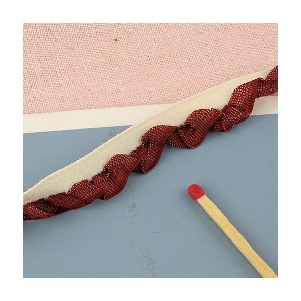 Borde cinta plissado 11 mm.