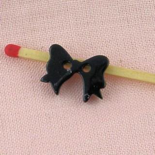 Bouton noeud nacré, 4 trous, 1,2 cm.