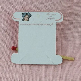 Carte bobine en carton pour fil, 4 cm.