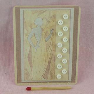 Tarjeta mini botones retro 1900