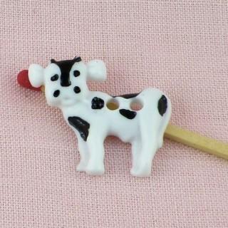 Animal Button, Cow 2 cms.