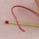 Cordon lacet pur cuir au mètre 1,5 mm.