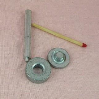Outils pour pose oeillets 8 mm à sertir