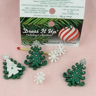 Buttons Dress it up, christmass tree buttons