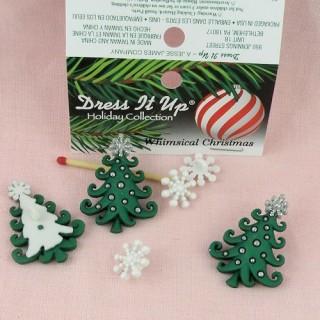 Christmass tree buttons Dress it up,