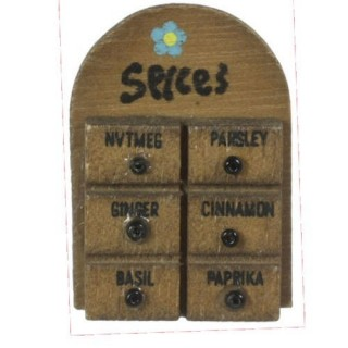 Wooden spice rack miniature doll house,