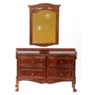 Vanity with mirror, dollhouse bedroom