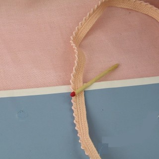 Embroidered thread piping ribbon