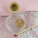 Pot couvercle bois miniature maison poupée