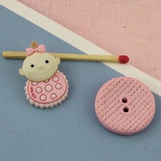 Fancy baby bib buttons