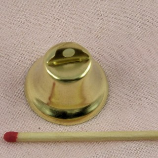 Gold liberty bell, for dollhouse 26mm